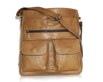 DISTRESSED Leather Messenger Bag Iris - Leather Cross-body Bag fits a 11in laptop - Leather Handbag - Messenger Bag - Leather Bag - Handbag