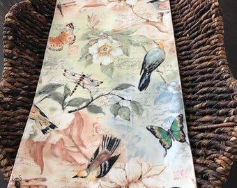 Toilet Tank Cover Topper | Bird | Shabby Chic | Summer Spring | Bathroom Decor | Home Accent | Candle mat