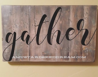 Gather - Vinyl Wall Art, Graphics, Lettering, Decals, Stickers