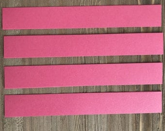 DIY Invitation Belly Band Dark Pink Shimmer