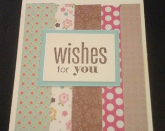 Pieced together birthday card- free shipping