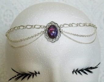 Dragons Breath Fire Opal Circlet, medieval jewelry renaissance jewelry victorian jewelry gothic edwardian tudor neo victorian headpiece
