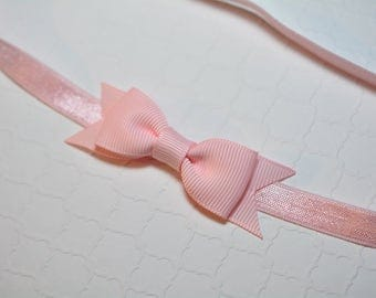 Light Pink Bow Headband / Pink Baby Headband / Baby Shower Gift Girl / Hair Bows for Babies / Baby Girl Headband / Baby Headband and Bows