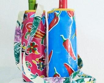 Bottle Carrier Oilcloth