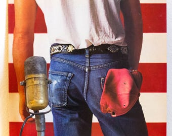 """ON SALE Bruce Springsteen Vinyl Record Album """"Born in the USA"""" (Loaded Original 1984 Columbia Records with lyric inset and w/""""Dancing in the"""
