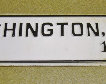 1958 Washington Georgia Automobile Tag Topper number 1183 unused good condition new old stock