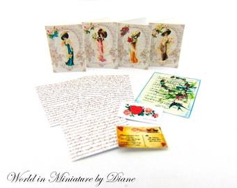 "PDF Dollhouse Valentines, 1:12 Valentines Digital Download, Dollhouse Romance, Dollhouse Victorian, Dollhouse Love, Scale 1"" Miniatures"