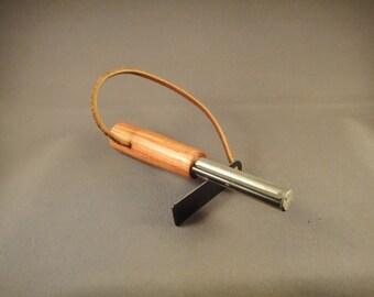 Survival Fire Starter - Flint and Magnesium - Tulipwood Handle