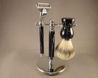 Wet Shaving Deluxe Brush Set