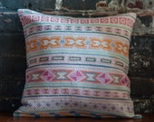 Chiang Mai Hand- stitched tribal cotton pillow cover
