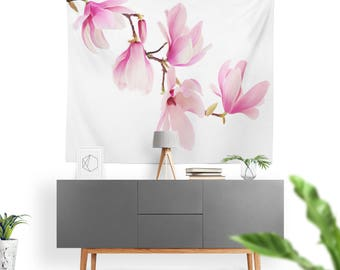 Art Tapestry Pretty Magnolia Flowers Fine Art Photography. Wall Tapestry. Art Wall Hanging. Diva, Glamour, Magnolia Flowers, Wall Art 2