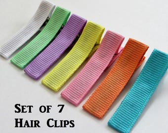 Set of Baby Hair Clips Doll Accessories Toddler Girl Hair Clips Girls Barrettes Ribbon Barrettes Spring Hair Bows Mini Hair Clips Pastel