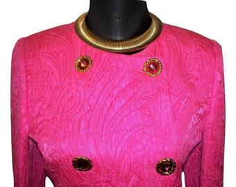 Vintage ESCADA Pink Skirt Suit ~ Sz 34/US 2/4