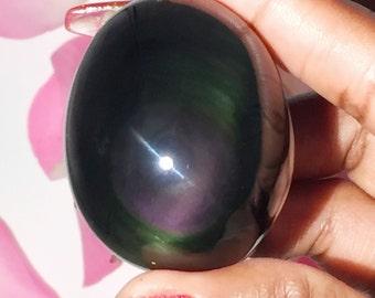 Yoni Egg medium - Rainbow Obsidian Namastes  Pick Small or Large
