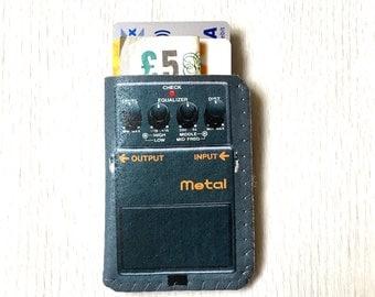 Business Card Case - Grey Guitar Pedal - Credit Card Holder - Business Card Holder - Oyster Card Holder - Travel Card Holder