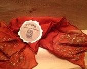 Discontinued Pumpkin: Hand Dyed Orange Silk Chiffon Scarf