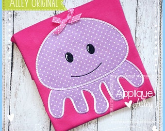Simply Sweet Squid Applique Embroidery Digital Design for Summer