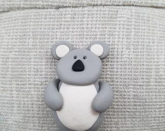 Polymer clay Koala refrigerator magnet