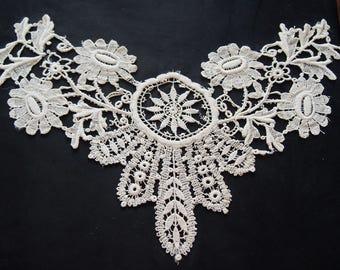 Antique Lace Applique Insert Dress Trim