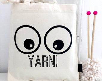 Yarn! | Yarn Bag | Knitting Bag | Knitting Storage | Knitting Project Bag