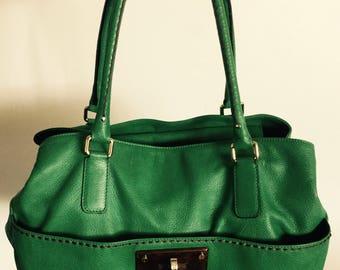Beautiful PINIO VISONA Large Green Leather Hobo Hand bag