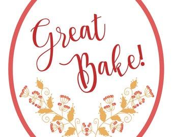 Great Bake Printable