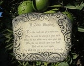 Handmade Celtic Blessing Ceramic Plaque