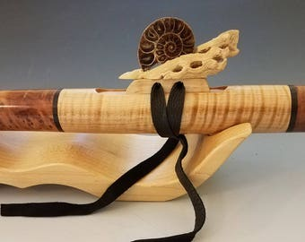 Native American Style Flute, Redwood Burl & Maple