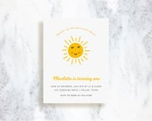 Custom Invitations | Bright As The Sun | Birthday Party Invite