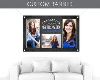 Banner, Custom Banner, Graduation Banner, Custom Vinyl Banner, Party Banner, Custom Party Banner - Grad