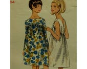 Shaped Yoke Dress Pattern, 60s, Gathered Skirt, Back Buttons, Sleeveless/Long Sleeves, Back V-neck, Butterick 4627 UNCUT Size 14 Bust 34""
