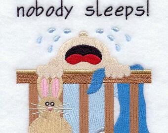I Don't Sleep, Nobody Sleeps! Quilt Block