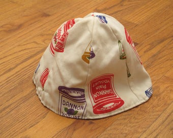vintage 60s Dannon yogurt bell hat