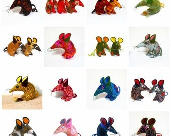 3 handmade RETRO mice of YOUR choice and at discounted price