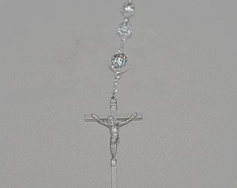 Silver Filigree Beaded Rosary