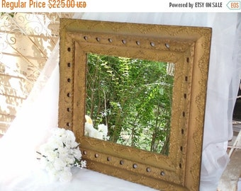 ON SALE ANTIQUE  Mirror, Ornate  Mirror or Chalkboard ,Antique Gesso Beautiful Gold Mirror or Wedding Chalkboard Color of your Choice