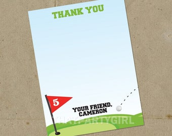 Golf Party Thank You Notes, Golf Birthday Party, Golf Party, Golf PAR-TEE, Golf Thank You Tag, Golf Birthday Party Favors, Golf Party Favors