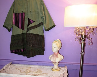 The Rings in the Danger Dress /Tunic  / Eco / Plus Size/ Rustic / Upcycled / Boho / Country living / Cottage Chic #4