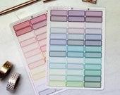 39 Quarter Box multi colour Planner stickers for Erin Condren, Inkwell Press, Happy Planner