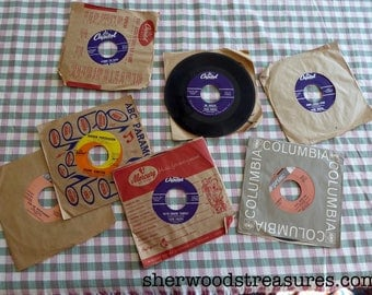 Lot of Seven Frank Sinatra 45 records  Great Condition