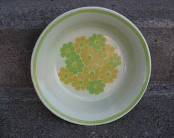 franciscan earthenware bowl picnic pattern vegtable bowl 1970s dinnerware gift idea