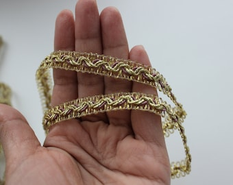 Gold soutage sari trim by pack - 13,95 yards