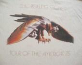Vintage 90's The Rolling Stones 1975 Re Issue Concert Tour Rare T shirt Men's Size XL