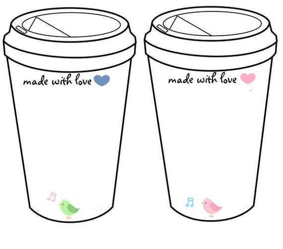 crochet coffee cup cozy to go cup template inserts printable. Black Bedroom Furniture Sets. Home Design Ideas