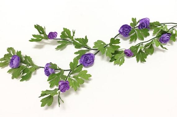 6 Ft PURPLE Mini Ranunculus GARLAND