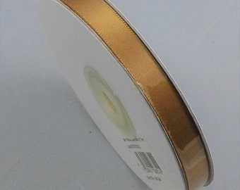 25 mt Reel Gold Satin Ribbon, Old Gold Ribbon, 10mm Satin Ribbon, Double Satin Ribbon, Ribbon Supplies,  Wedding supplies Gold Wedding Ideas