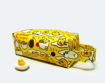 Waterproof Pencil Bag - Lazy Egg (w/ side carrying strap)