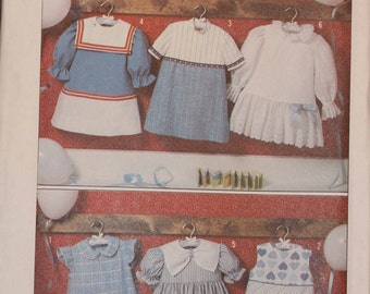 Child Size 6 Dress Jumper Simplicity 9808 Ruffle Girls Kids Children Long Short Cap Sleves Sewing Pattern Sew Uncut