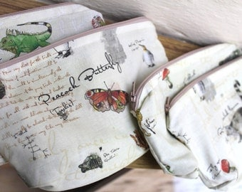 Mini make up bag - Charles Darwin
