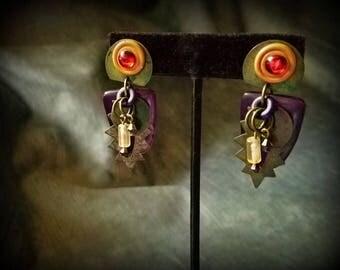 Multi-layered Colorful Earrings